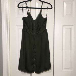 Lauren Conrad olive green strap dress